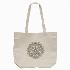 Floral Flower Mandala Decorative Tote Bag (cream) by Simbadda