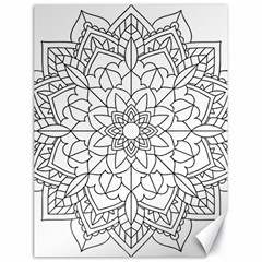 Floral Flower Mandala Decorative Canvas 18  X 24   by Simbadda