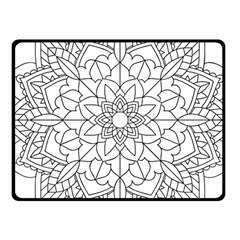 Floral Flower Mandala Decorative Fleece Blanket (small) by Simbadda