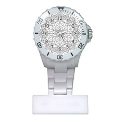 Floral Flower Mandala Decorative Plastic Nurses Watch