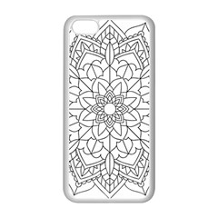 Floral Flower Mandala Decorative Apple Iphone 5c Seamless Case (white)