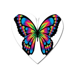 Abstract Animal Art Butterfly Heart Magnet
