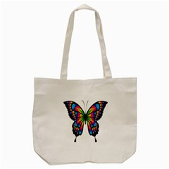 Abstract Animal Art Butterfly Tote Bag (cream) by Simbadda