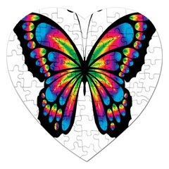Abstract Animal Art Butterfly Jigsaw Puzzle (heart) by Simbadda