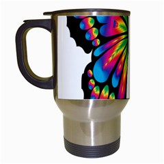 Abstract Animal Art Butterfly Travel Mugs (white) by Simbadda
