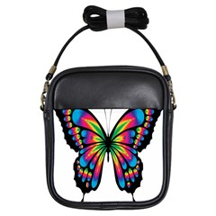 Abstract Animal Art Butterfly Girls Sling Bags by Simbadda