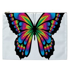 Abstract Animal Art Butterfly Cosmetic Bag (xxl)