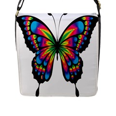 Abstract Animal Art Butterfly Flap Messenger Bag (l)