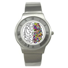 Brain Mind Anatomy Stainless Steel Watch by Simbadda