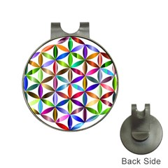 Flower Of Life Sacred Geometry Hat Clips With Golf Markers by Simbadda