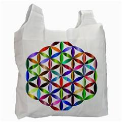 Flower Of Life Sacred Geometry Recycle Bag (two Side)