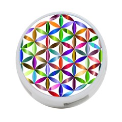 Flower Of Life Sacred Geometry 4-port Usb Hub (two Sides)  by Simbadda