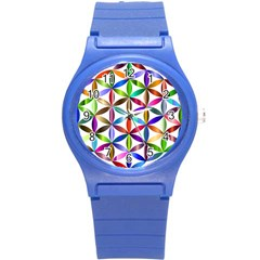 Flower Of Life Sacred Geometry Round Plastic Sport Watch (s) by Simbadda