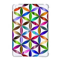 Flower Of Life Sacred Geometry Apple Ipad Mini Hardshell Case (compatible With Smart Cover) by Simbadda