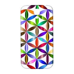 Flower Of Life Sacred Geometry Samsung Galaxy S4 I9500/i9505  Hardshell Back Case by Simbadda