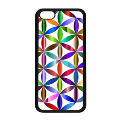 Flower Of Life Sacred Geometry Apple Iphone 5c Seamless Case (black)