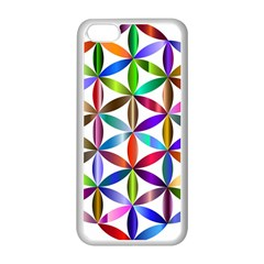 Flower Of Life Sacred Geometry Apple Iphone 5c Seamless Case (white)