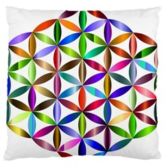 Flower Of Life Sacred Geometry Standard Flano Cushion Case (one Side)