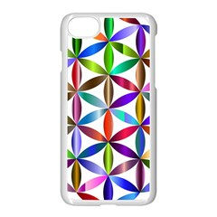 Flower Of Life Sacred Geometry Apple Iphone 8 Seamless Case (white)