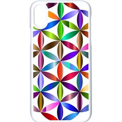 Flower Of Life Sacred Geometry Apple Iphone X Seamless Case (white) by Simbadda