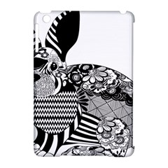 Floral Flourish Decorative Apple Ipad Mini Hardshell Case (compatible With Smart Cover)
