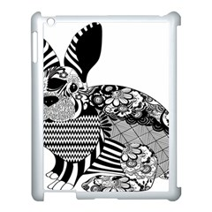 Floral Flourish Decorative Apple Ipad 3/4 Case (white)