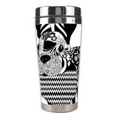 Floral Flourish Decorative Stainless Steel Travel Tumblers by Simbadda