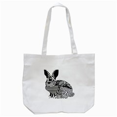 Floral Flourish Decorative Tote Bag (white) by Simbadda
