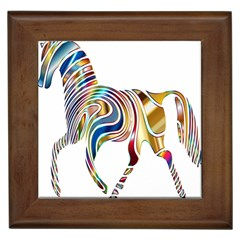 Horse Equine Psychedelic Abstract Framed Tiles by Simbadda