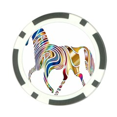 Horse Equine Psychedelic Abstract Poker Chip Card Guard by Simbadda