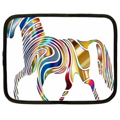 Horse Equine Psychedelic Abstract Netbook Case (large) by Simbadda
