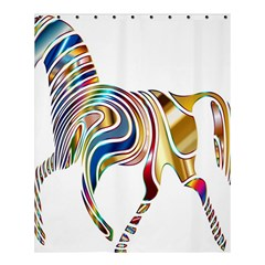 Horse Equine Psychedelic Abstract Shower Curtain 60  X 72  (medium)