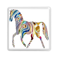 Horse Equine Psychedelic Abstract Memory Card Reader (square)