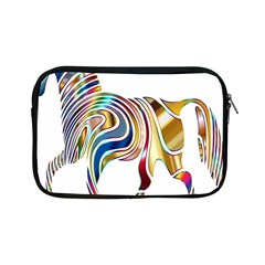 Horse Equine Psychedelic Abstract Apple Ipad Mini Zipper Cases by Simbadda