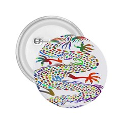 Dragon Asian Mythical Colorful 2 25  Buttons by Simbadda