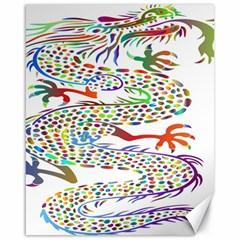 Dragon Asian Mythical Colorful Canvas 16  X 20