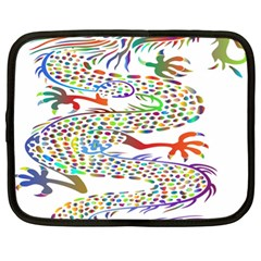 Dragon Asian Mythical Colorful Netbook Case (xl)