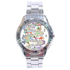 Dragon Asian Mythical Colorful Stainless Steel Analogue Watch