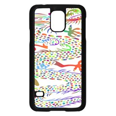 Dragon Asian Mythical Colorful Samsung Galaxy S5 Case (black)