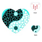 Yin Yang Eastern Asian Philosophy Playing Cards (Heart)  Front