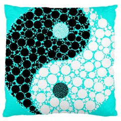 Yin Yang Eastern Asian Philosophy Large Cushion Case (two Sides) by Simbadda