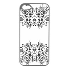 Vintage Ornamental Decorative Apple Iphone 5 Case (silver) by Simbadda
