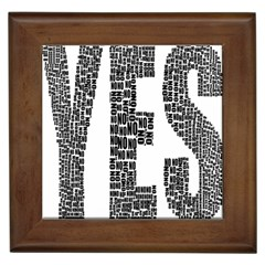 Yes No Typography Type Text Words Framed Tiles