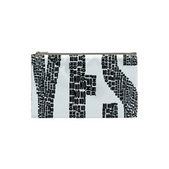 Yes No Typography Type Text Words Cosmetic Bag (small)  by Simbadda