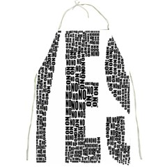 Yes No Typography Type Text Words Full Print Aprons by Simbadda