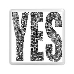 Yes No Typography Type Text Words Memory Card Reader (square)