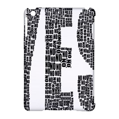 Yes No Typography Type Text Words Apple Ipad Mini Hardshell Case (compatible With Smart Cover) by Simbadda