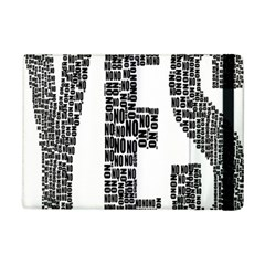 Yes No Typography Type Text Words Ipad Mini 2 Flip Cases