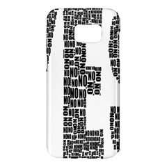 Yes No Typography Type Text Words Samsung Galaxy S7 Edge Hardshell Case