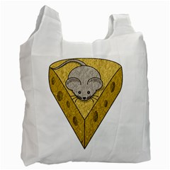 Cheese Rat Mouse Mice Food Cheesy Recycle Bag (two Side)